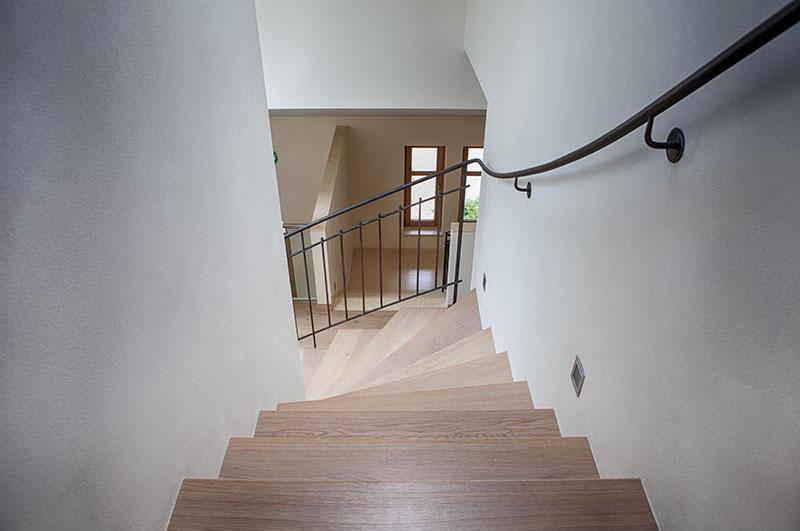 Treppe - Eiche - Schmiedeisen