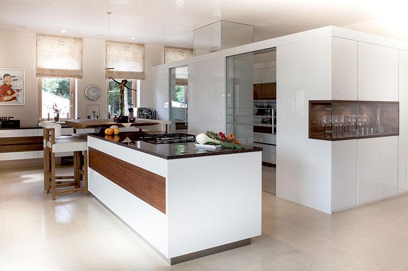 Küche - Lack hochglanz - Nuss