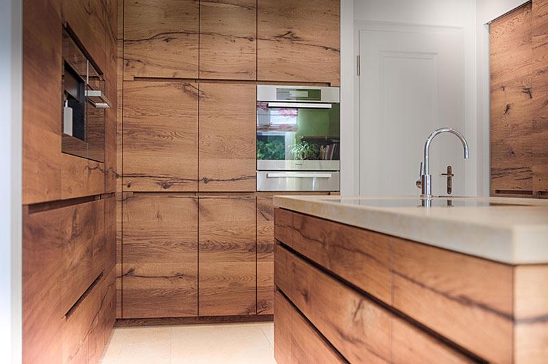 Schreinerküche - Altholz Eiche