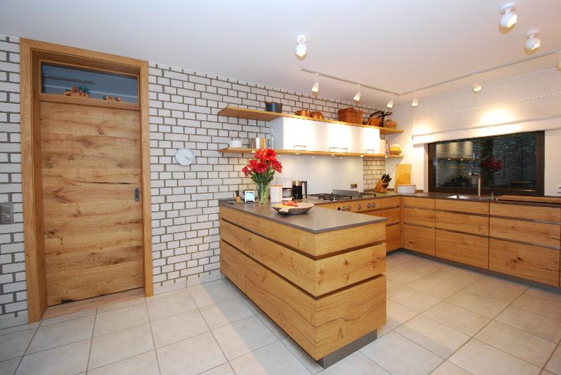 Küche - Tür - in Wildeiche